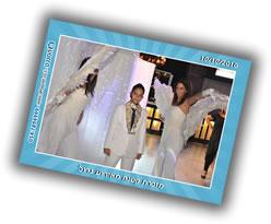 ילד בר מצווה עם רקדניות מלאכיות